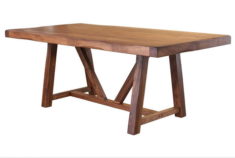 "GRANVILLE 79"" DINING TABLE WITH WOOD BASE - Habillo"