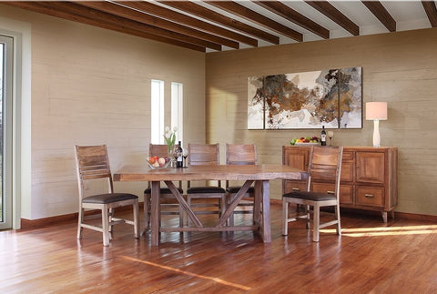 GRANVILLE HABILLO DINING SET with 8 Chairs