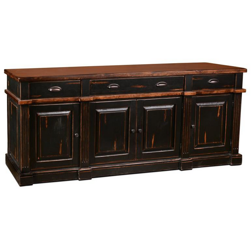 Landon Distressed Sideboard - Black