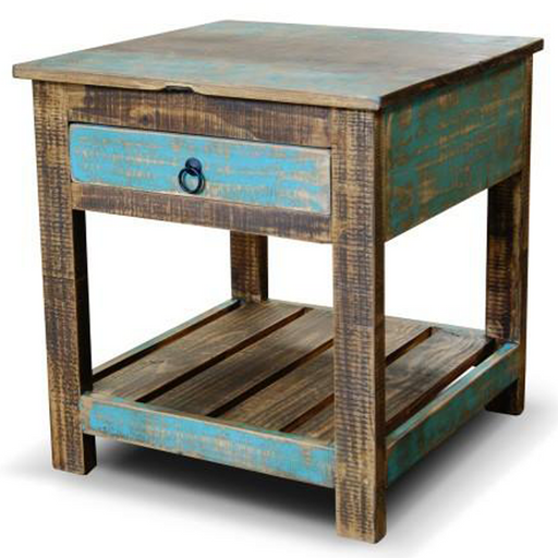 La Boca Blue End Table - Crafters and Weavers
