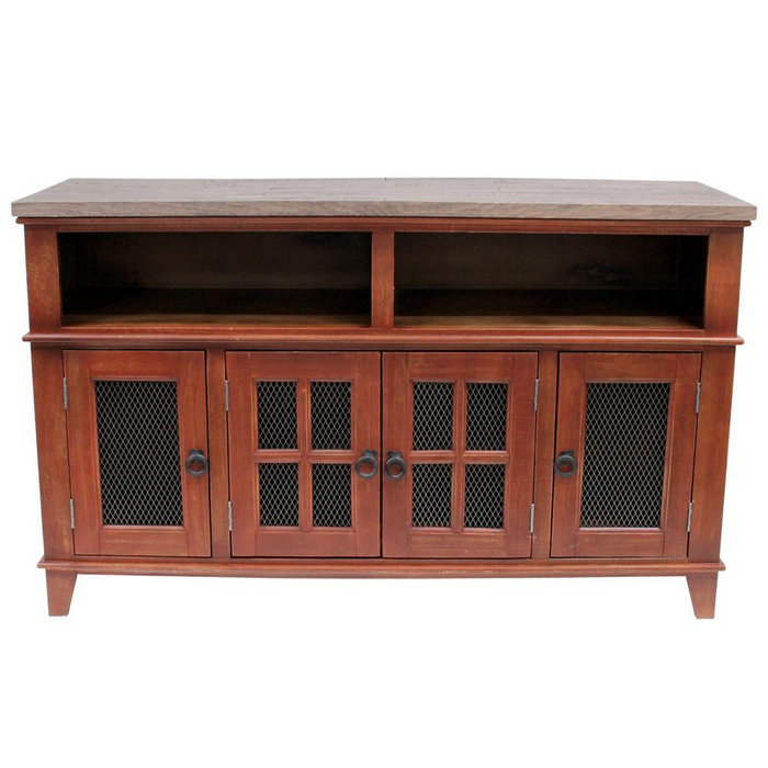 Gaines TV Stand - Distressed Red