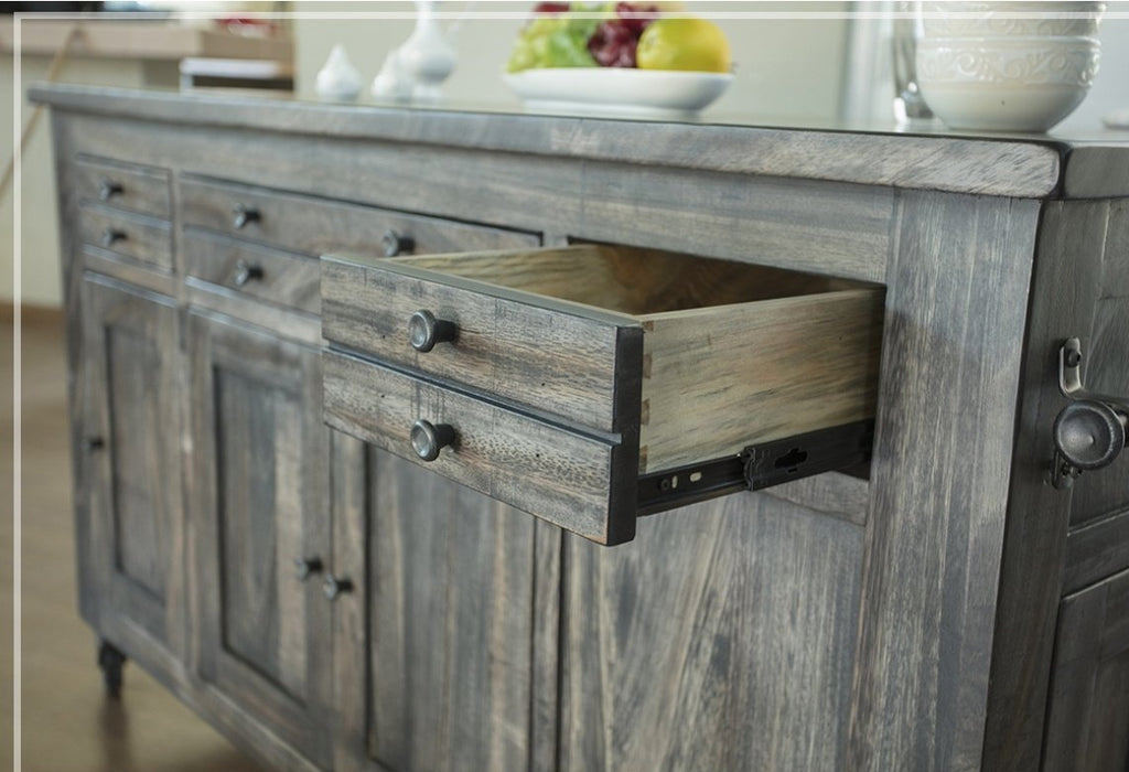 Sawyer Parota Wood Kitchen Island