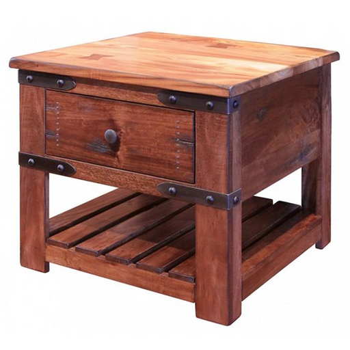 Granville Parota Wood End Table - Crafters and Weavers