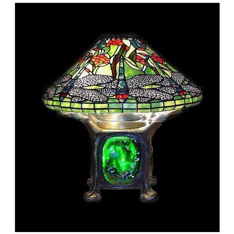 Tiffany Style Dragonfly Stained Glass Table Lamp Tf16415