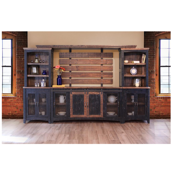 Greenview Sliding Door Media Set - Distressed Black