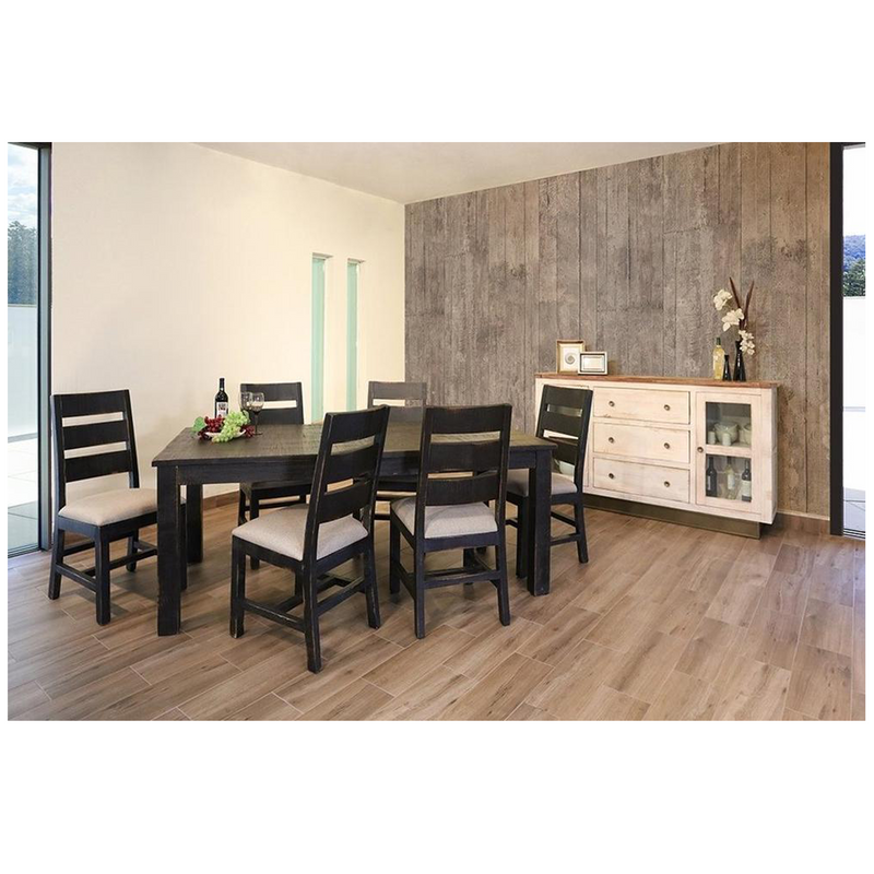GREENVIEW 79 INCH DINING SET with 6 Chairs