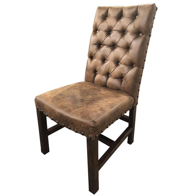 Tufted Back Dark Brown Dining Chair #869