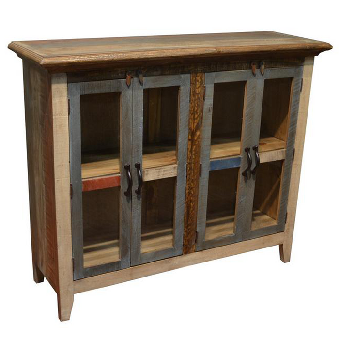 Bayshore 4 Door Curio Cabinet - Multi Color