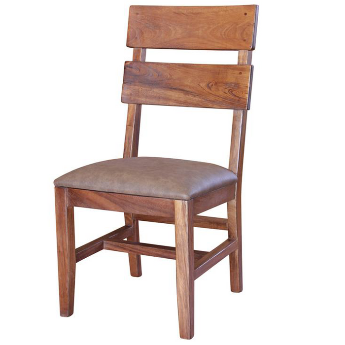 Parota Wood Slat Back Dining Chair #866