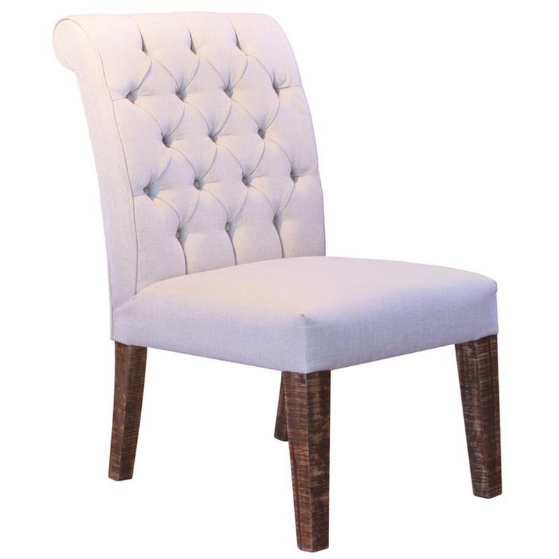 Greenview Tufted Back Linen Dining Chair #683