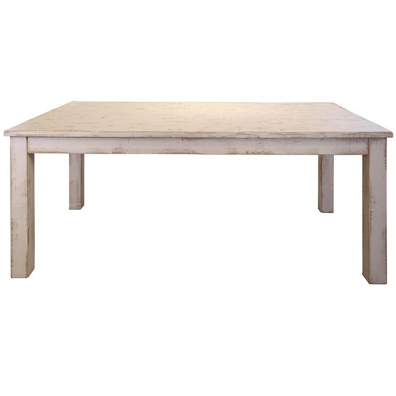 "Greenview 79"" Dining Table - Distressed White"