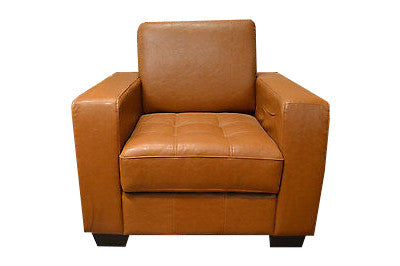 Leather Arm Chair - Crafters & Weavers - 1