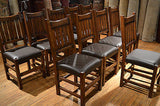 Arts and Crafts set of 10 Mission Oak Dining Chairs - Crafters & Weavers - 4