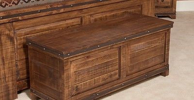 Addison Rustic style Reclaimed wood Trunk - Crafters & Weavers - 1