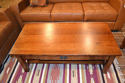 ... Arts And Crafts / Crofter Style Quarter Sawn Oak Coffee Table    Crafters U0026 Weavers