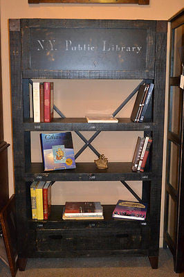 City Bookshelf with Hidden Compartment - Crafters & Weavers - 2