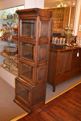 Mission Style Quarter Sawn Oak 4 Stack & 5 Stack Barrister Bookcases- Crafters and Weavers