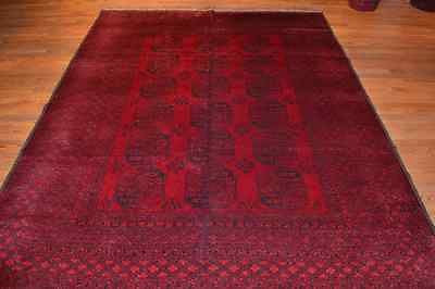 rug2754 size 6.8 x 8.10 Tribal Afghan Rug - Crafters & Weavers - 1