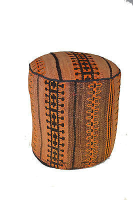 Rug Pouf / Rug Sitting Stool Ottoman made of vintage kilim rug # 26 - Crafters & Weavers - 1