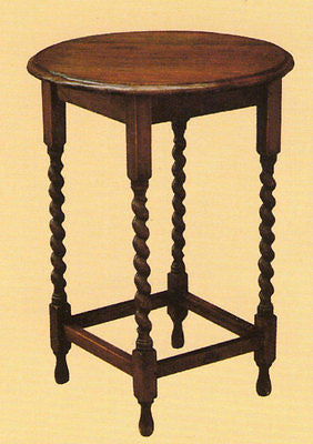 Mission Oak End Table With Barley Twist Legs - Crafters & Weavers - 1