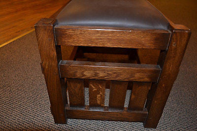 Mission Oak Footstool Wide Spindles