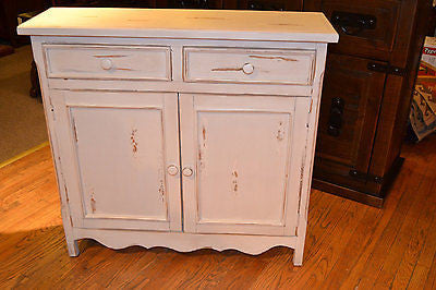 Landon White Cabinet - Crafters & Weavers - 1