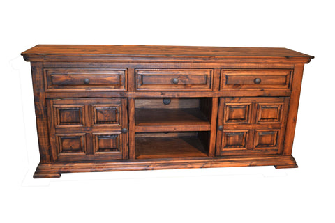 Greenview Carved Panel TV Stand - Crafters & Weavers - 1