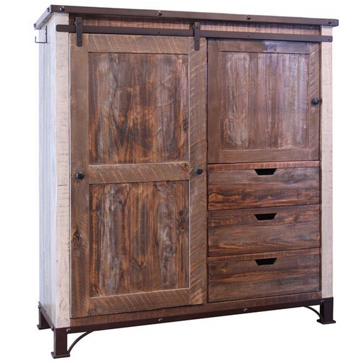 Bayshore Farmhouse Gentleman's Chest / Armoire 55'' - Crafters and Weavers