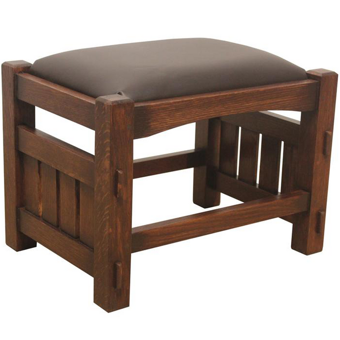 Mission Oak Foot Stool - Wide Spindles (2 Colors Available)