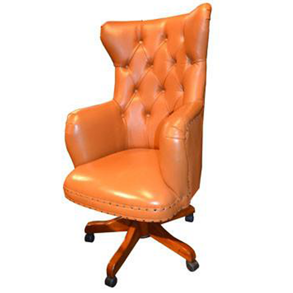 Regal Tan Leather Office Chair
