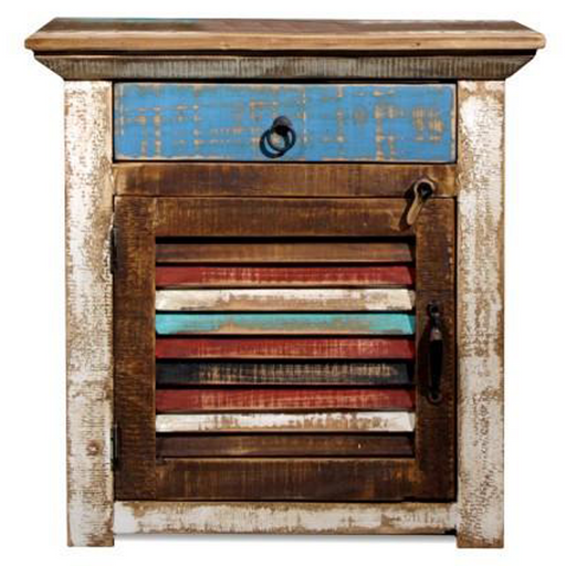 La Boca Shutter Door End Table - Crafters and Weavers