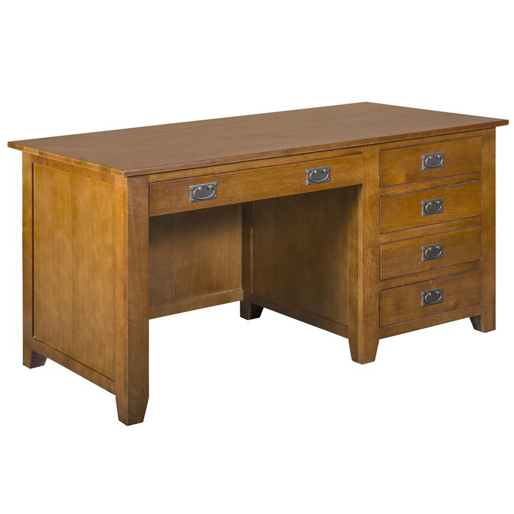 Mission 5 Drawer Library Desk - Michael's Cherry