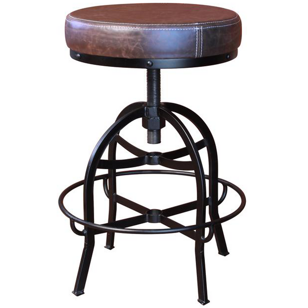 Provence Adjustable Height Round Bar Stool