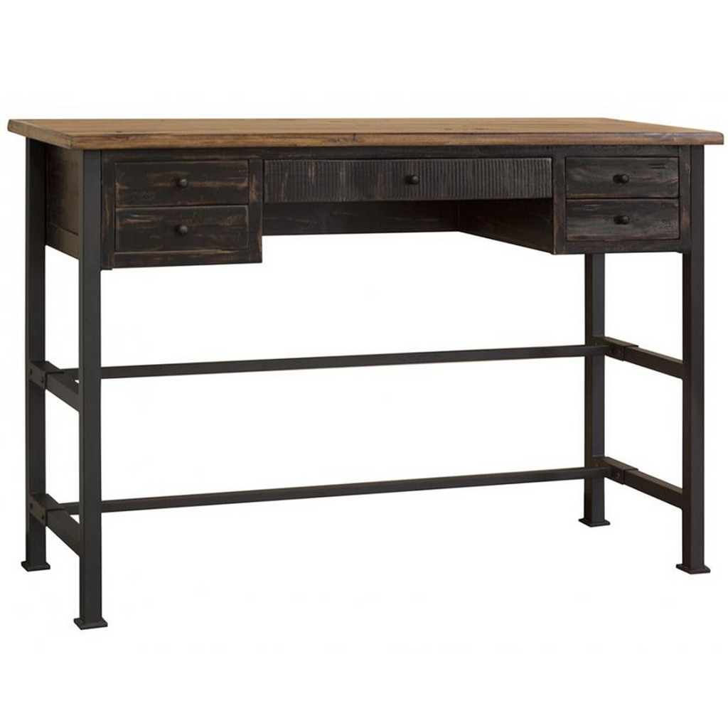 "Greenview Mod 42"" High Desk - Distressed Black"