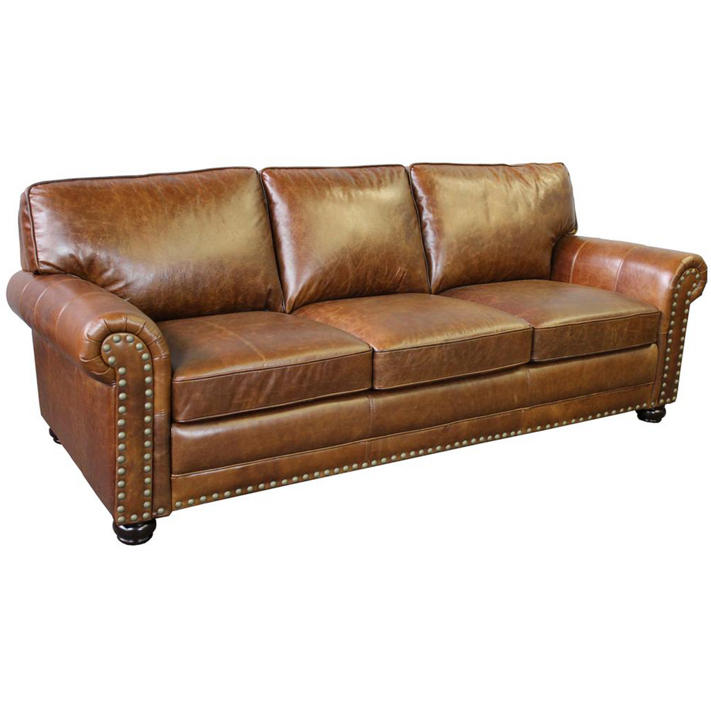 Sorrento Sofa - Light Brown Leather
