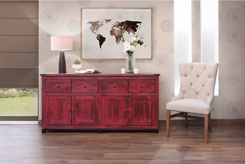 Bayshore Farmhouse Sideboard - Red