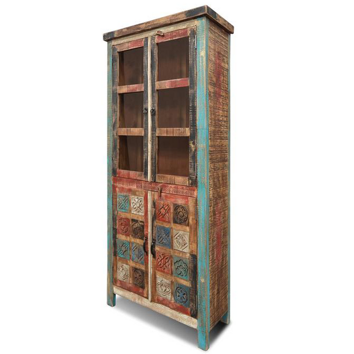 La Boca Carved China Cabinet - 34""