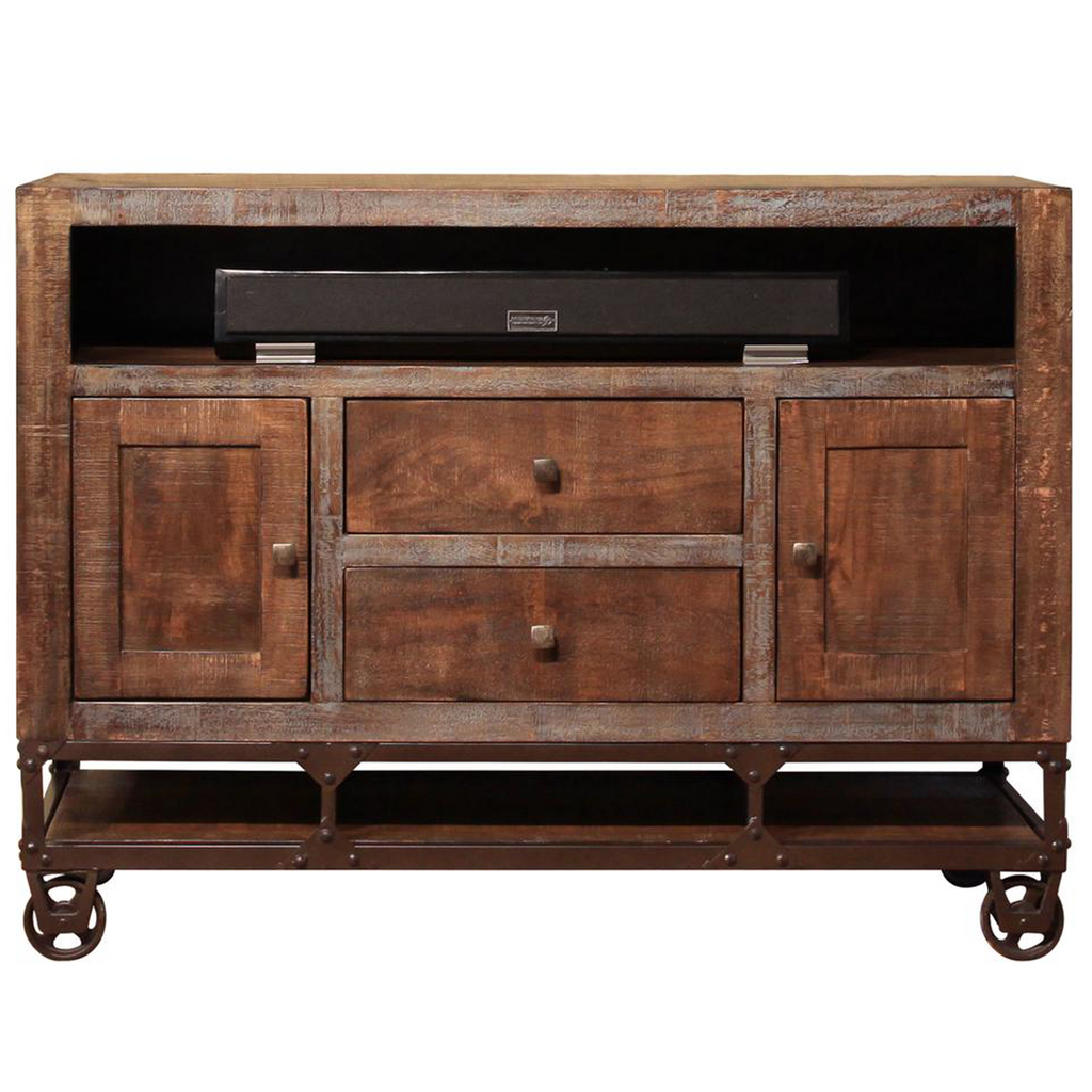 "Greenview 52"" Forged Iron Base TV Stand"