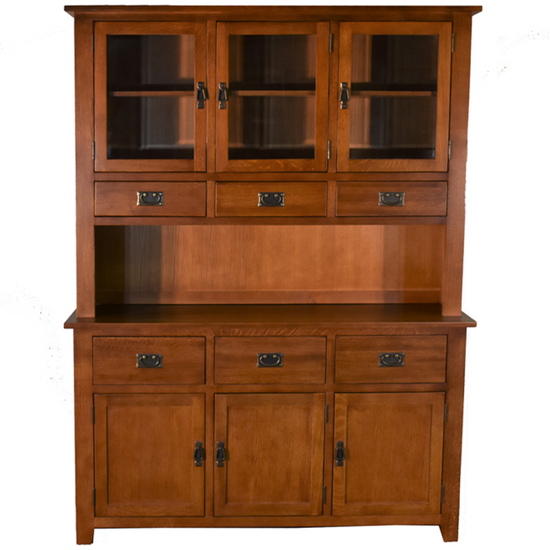 Mission 6 Door & 6 Drawer China Cabinet - Michael's Cherry