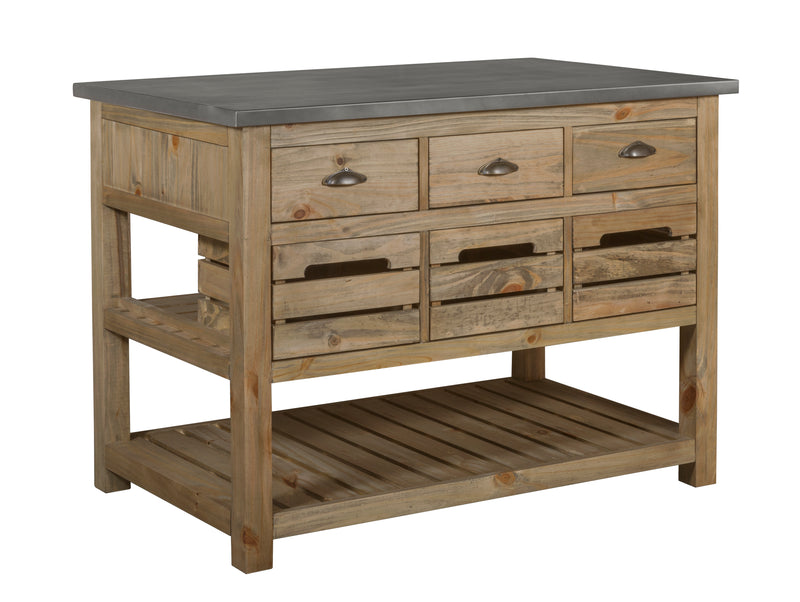 Barlow Crate Kitchen Island - Rustic Pine