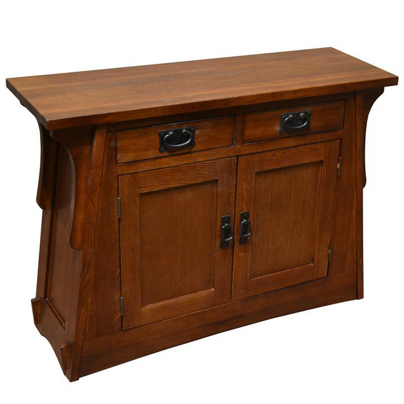 Arts and Crafts Crofter Style Entry Cabinet - Golden Brown