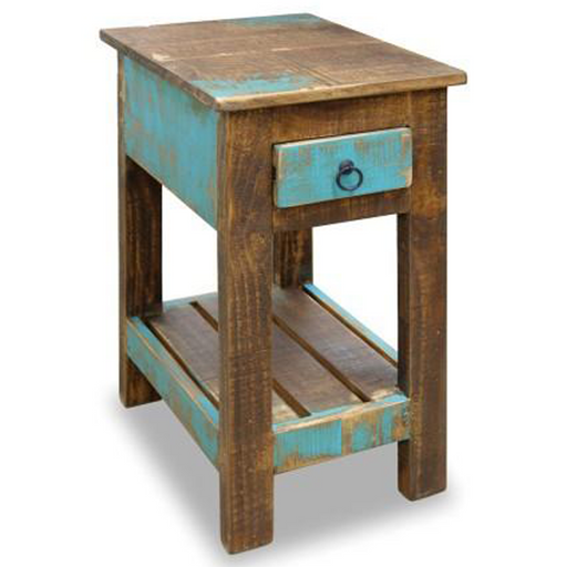 La Boca Blue Side Table - Crafters and Weavers