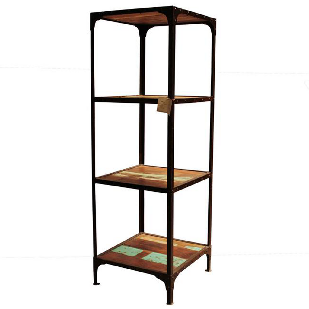 Artifact Reclaimed Wood and Iron Bookcase