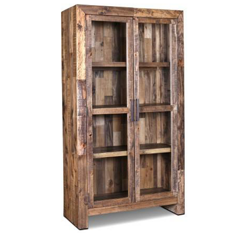 Knotty Pine Kitchen Cabinets For Sale: Knotty Pine Bookcase / Reclaimed Wood China Cabinet / Barnwood