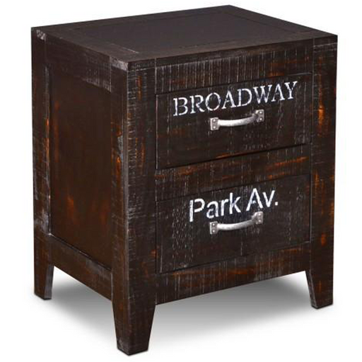 City 2 Drawer Nightstand - Crafters and Weavers