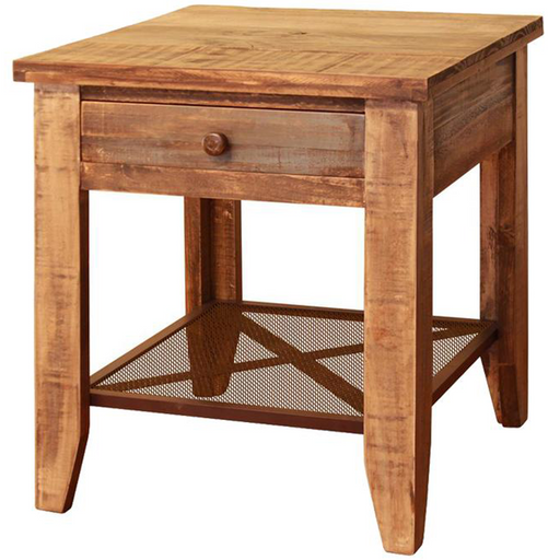 Bayshore Loft 1 Drawer End Table - Crafters and Weavers