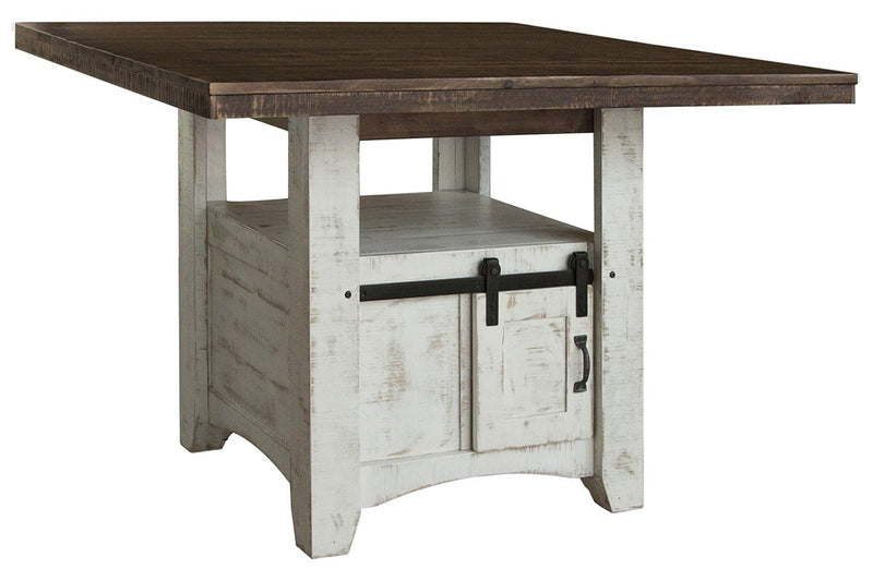 "Bayshore 79"" Teal Cross Base Dining Table"