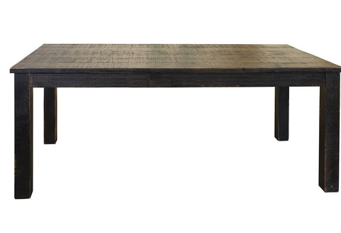 GREENVIEW 79 INCH DINING TABLE - DISTRESSED BLACK