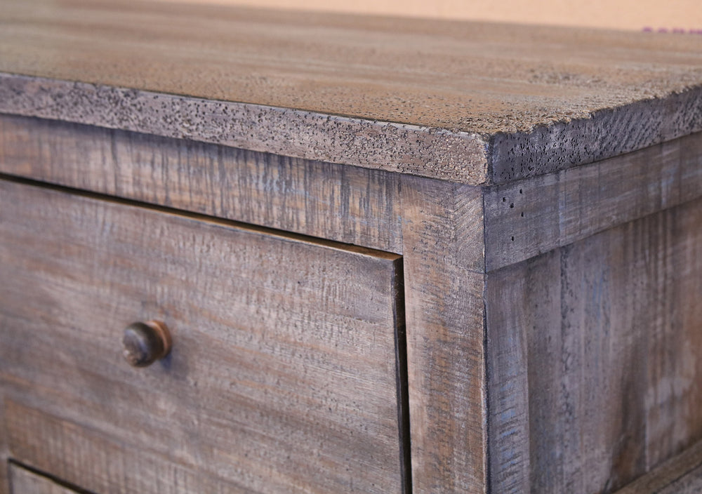 Greenview Weathered Gray Tv Stand 80 Inch