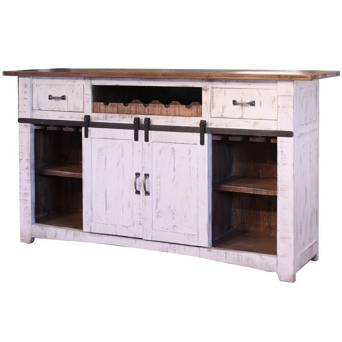 Greenview Bar Counter - Distressed White - 76""